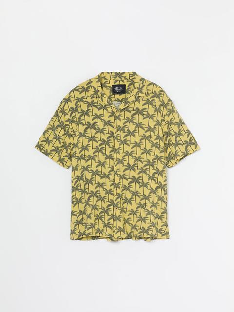 Camisa Con Estampado De Palmeras