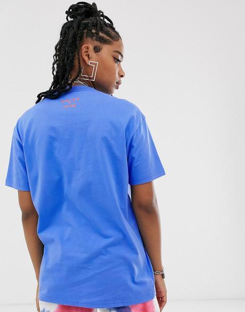 Vans X Ines - T-shirt Oversize À Fleurs - Bleu from ASOS on 21 Buttons