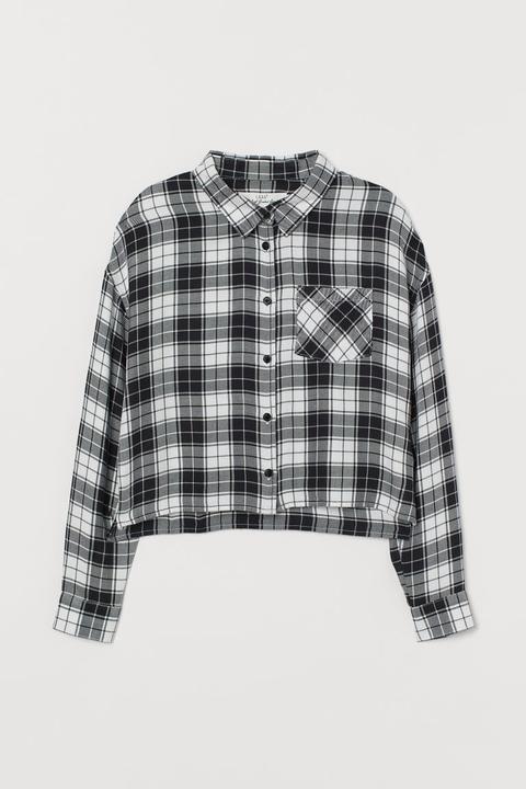 Camisa De Cuadros - Blanco