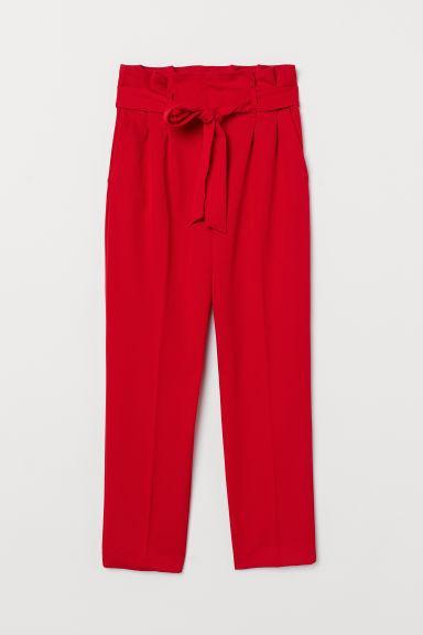 beste Auswahl an akzeptabler Preis mäßiger Preis Hose Mit Paperbag-bund - Red - Damen from H&M on 21 Buttons