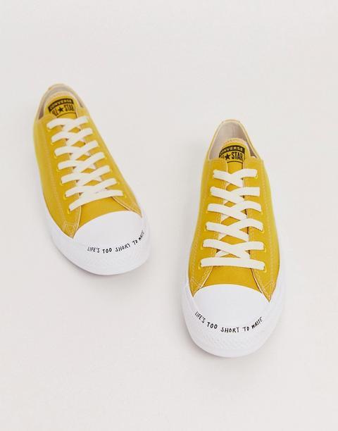 zapatillas converse amarillas hombre
