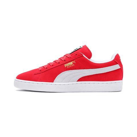 Zapatillas De Hombre Suede Classic, Blanco/rojo, Talla 35.5 | Puma Hombres de Puma en 21 Buttons
