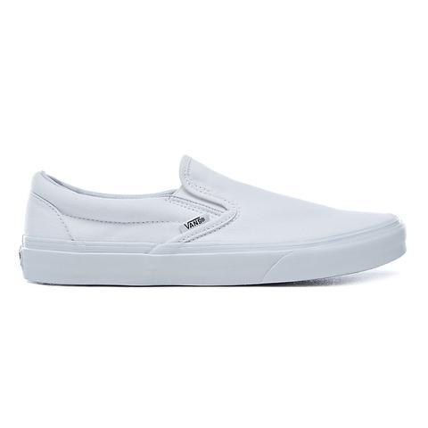 Vans Chaussures Classic Slip-on (true White) Femme Blanc from ...