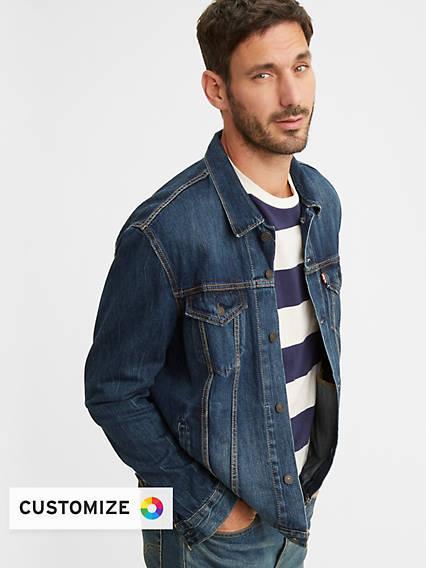Trucker Jacket Azul / Palmer de Levi's en 21 Buttons