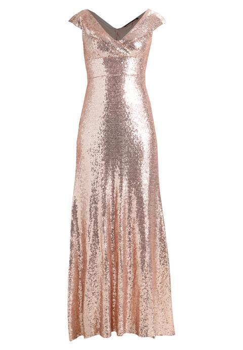 Tfnc Asmi Maxi Vestido De Fiesta Rose Gold