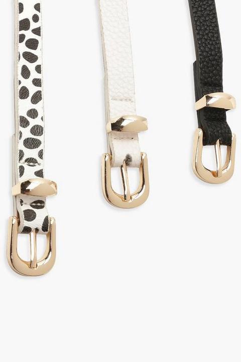3 Pack Skinny Dalmatian Belt