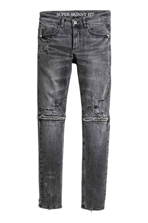 Super Skinny Zip Jeans