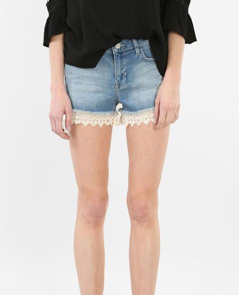 originale più votato la più grande selezione di attraente e resistente Short In Jeans Con Guipure from Pimkie on 21 Buttons