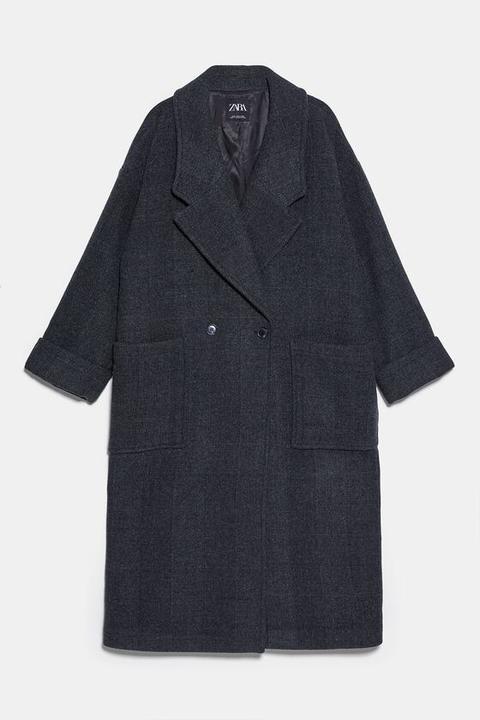 Abrigo Maxi Oversize de Zara en 21 Buttons