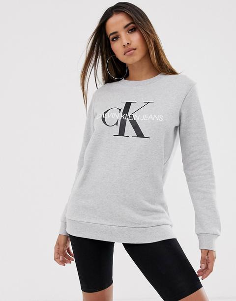 Sudadera Con Logo De Calvin Klein Jeans-gris
