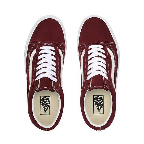 Vans Zapatillas De Ante Old Skool ((suede) Port Royale) Mujer Rojo