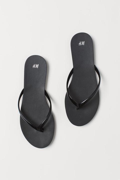 H & M - Flip-flops - Black