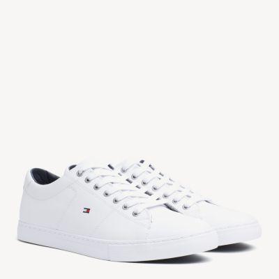 Zapatillas Deportivas Essential De Piel Con Cordones