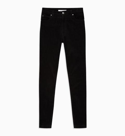 Pantalones Skinny De Pana Y Tiro Alto