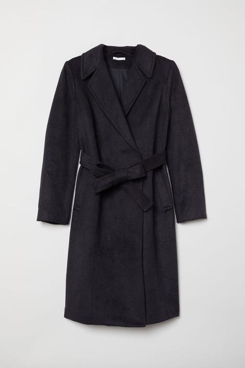 Mama Abrigo Con Cinturón - Azul de H&M en 21 Buttons