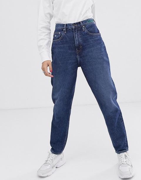 Vaqueros Mom De Tiro Alto En Tejido Sostenible De Tommy Jeans de ASOS en 21 Buttons
