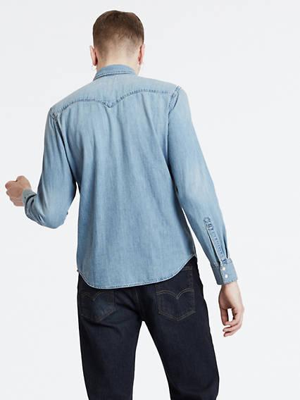Barstow Denim Shirt Azul / Red Cast Stone