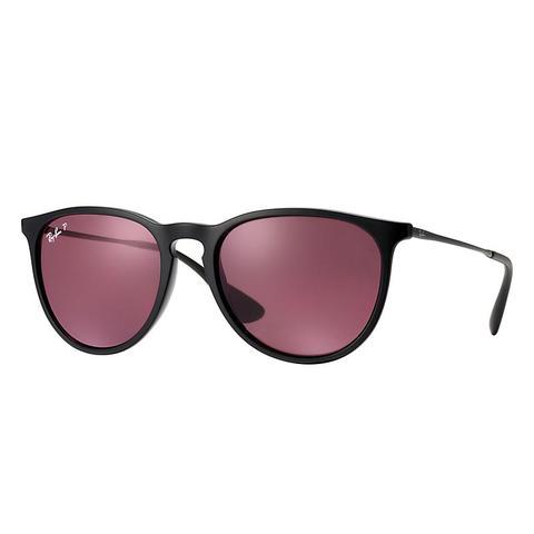 Erika Classic Unisex Sunglasses Lentes: Violeta Polarizadas, Montura: Negro de Ray-Ban en 21 Buttons