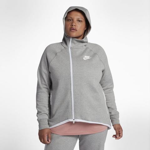 amazing price super cute free delivery Nike Grande Taille - Veste Cape Entièrement Zippée Sportswear Tech Fleece  Pour Femme - Gris from Nike on 21 Buttons