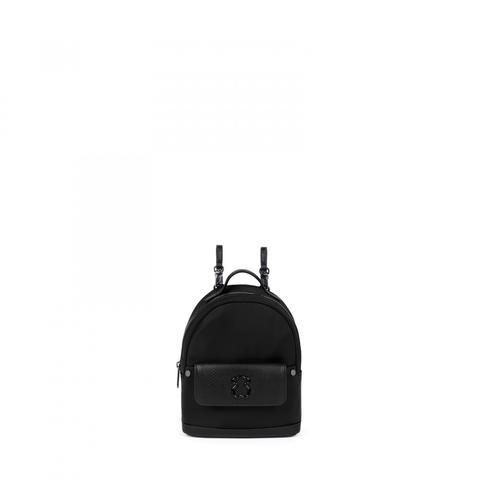 Mochila Mini Laina De Lona En Color Negro de Tous en 21 Buttons