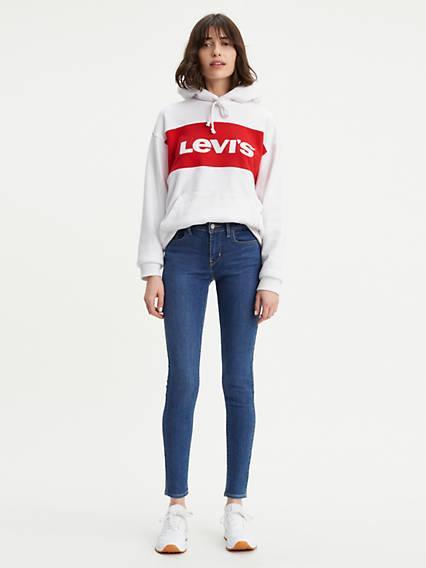 710™ Super Skinny Jeans Lavado Oscuro / Full Deck de Levi's en 21 Buttons