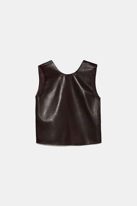 Cuerpo Piel Cropped de Zara en 21 Buttons