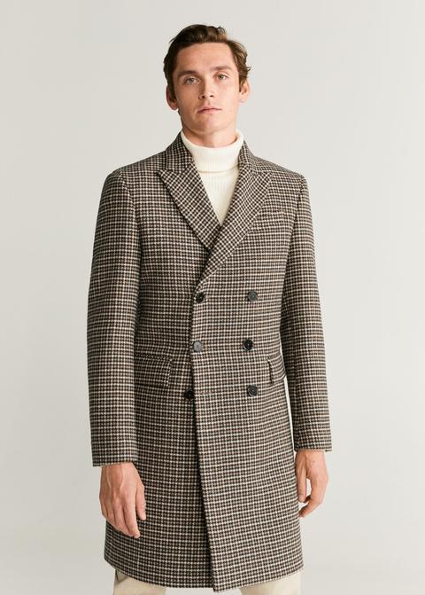 Abrigo Tailored Lana Tweed de Mango en 21 Buttons