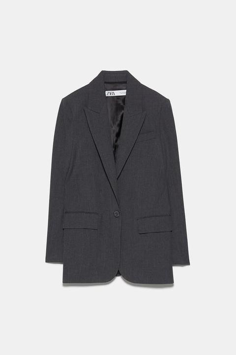 Blazer Oversize Bolsillos de Zara en 21 Buttons