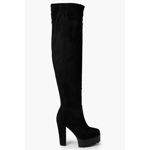Anna Platform Cleated Thigh High Boots