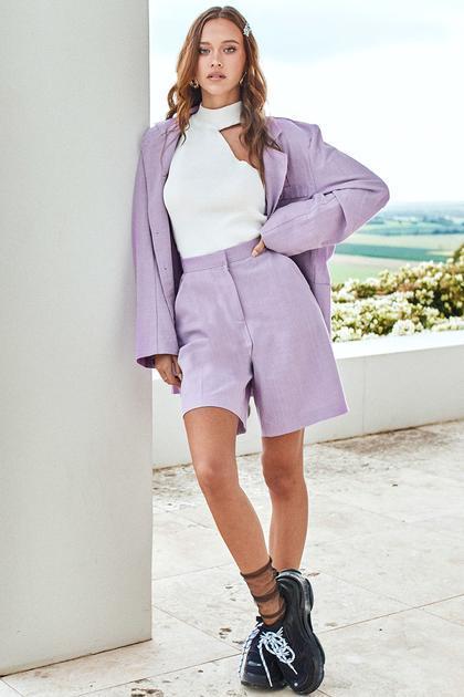 Alana Oversized Linen Jacket de Storets en 21 Buttons