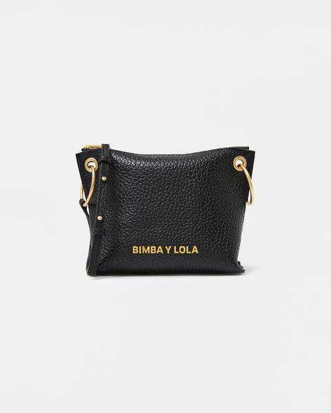 Bolso Bandolera Trapecio Piel Negro de Bimba Y Lola en 21 Buttons