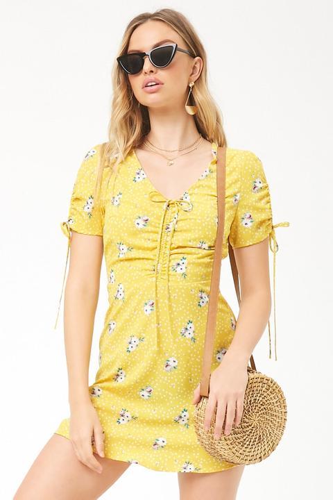Vestido Floral Con Lazos de Forever 21 en 21 Buttons