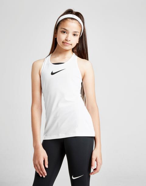 Nike Girls' Pro Tank Top Junior - White