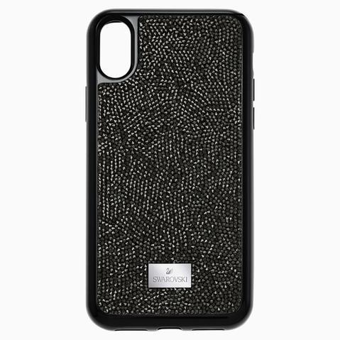 Funda Para Smartphone Con Protección Integrada Glam Rock, Iphone® X/xs, Negro de Swarovski en 21 Buttons