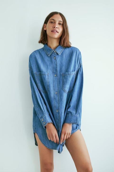 Oversized Shirt Dress from Zara on 21 Buttons