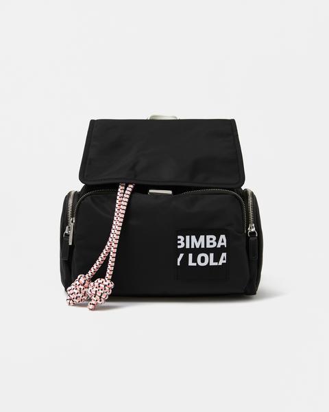 Mochila S Negra Cordón de Bimba Y Lola en 21 Buttons