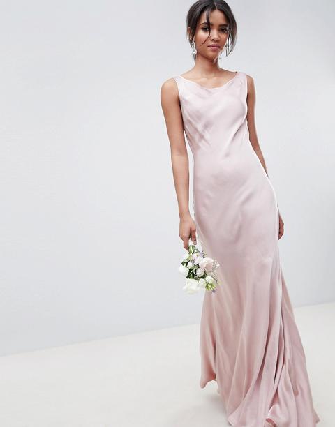 Vestido Largo De Dama De Honor En Rosa Boudoir De Ghost de ASOS en 21 Buttons