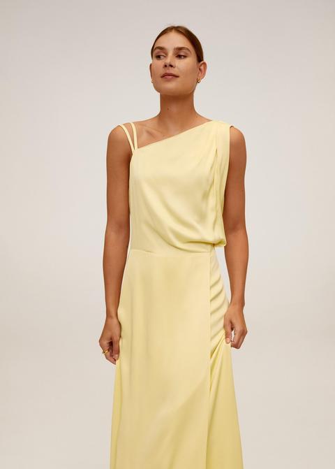 Vestido Largo Asimétrico de Mango en 21 Buttons