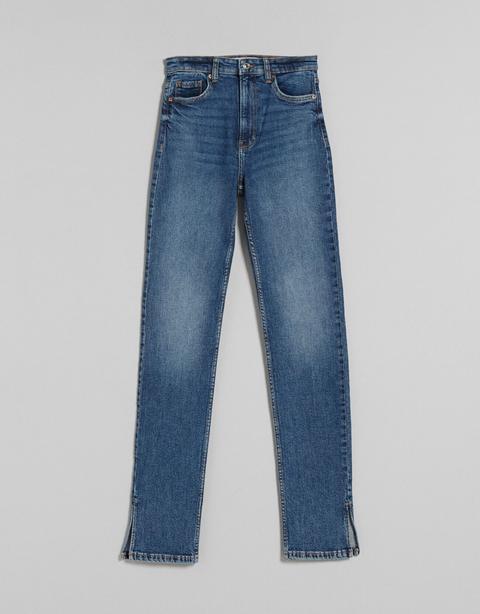 Jeans Skinny High Waist Abertura