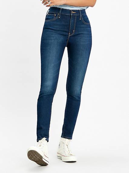 720 High Rise Super Skinny Ankle Jeans Negro / Cool Cool de Levi's en 21 Buttons