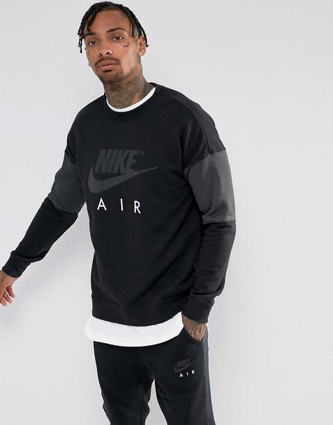 codice promozionale 2582e 66790 Nike - Air 861622-010 - Felpa Girocollo Nera - Nero from ASOS on 21 Buttons