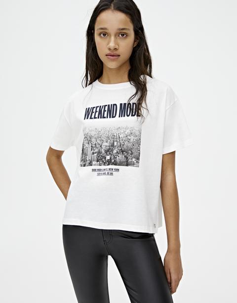 "Camiseta Ilustración ""weekend Mode"""