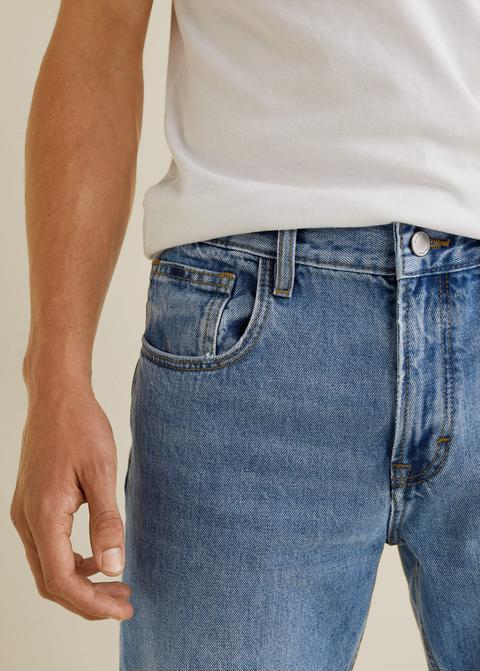 c63eb3ee8 Jeans Bob Regular Fit Lavado Claro de Mango en 21 Buttons