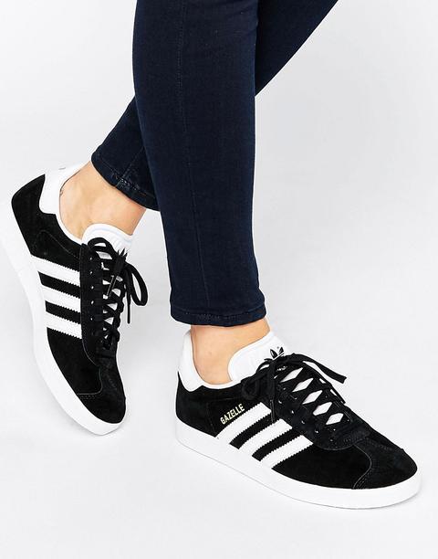black adidas gazelle trainers