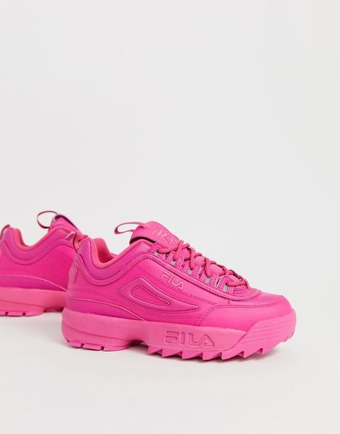 pink disruptor fila