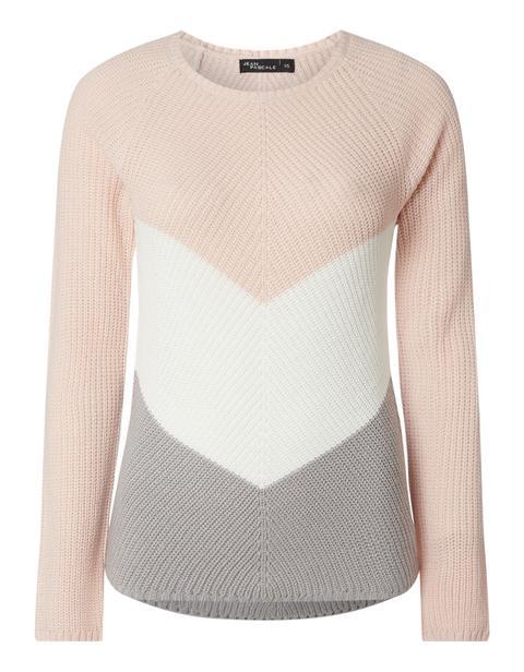 damen pullover damen pullover mit blockstreifen from takko fashion on 21 buttons  damen pullover mit blockstreifen from