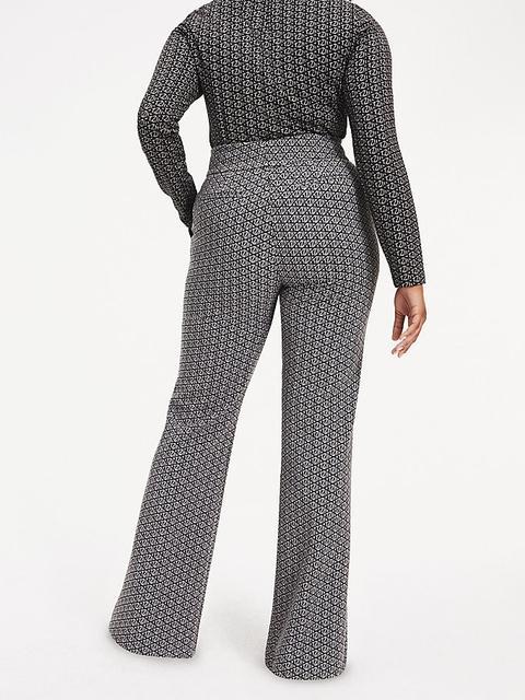 Pantalón Zendaya Curve Con Estampado De Monogramas