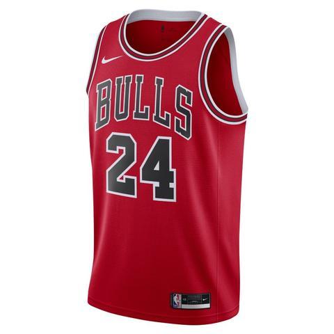 Lauri Markkanen Bulls Icon Edition 2020 Camiseta Nike Nba Swingman - Rojo