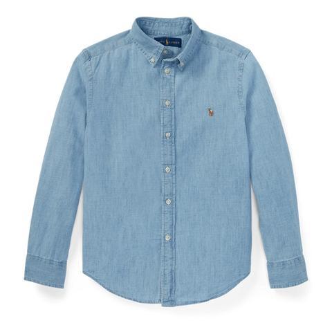 Camisa De Cambray De Algodón de Ralph Lauren en 21 Buttons