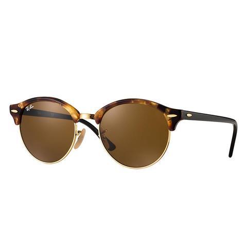 Clubround Classic Unisex Sunglasses Lentes: Marrón, Montura: Negro